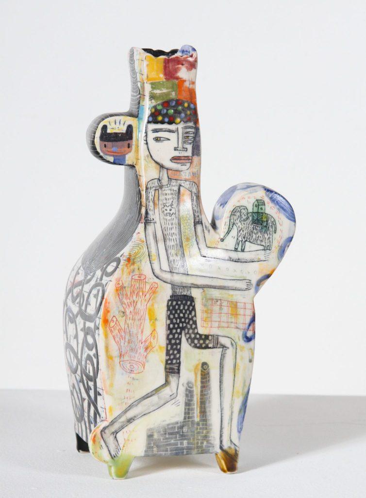 "Kevin Snipes - Little Elephant - 2018 - Ceramic - 16"" x 9"" x 5"""